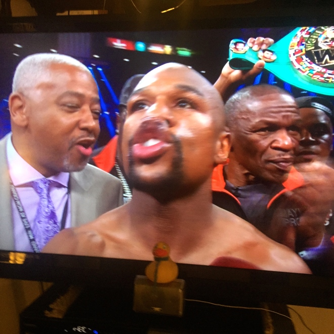 Floyd Mayweather is the winner and champion!