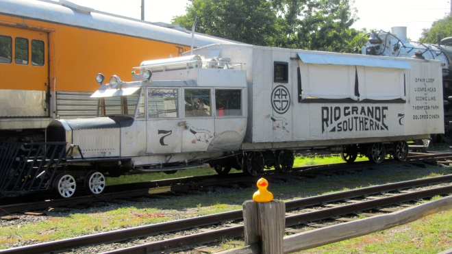 Truck or train?   With a goose?
