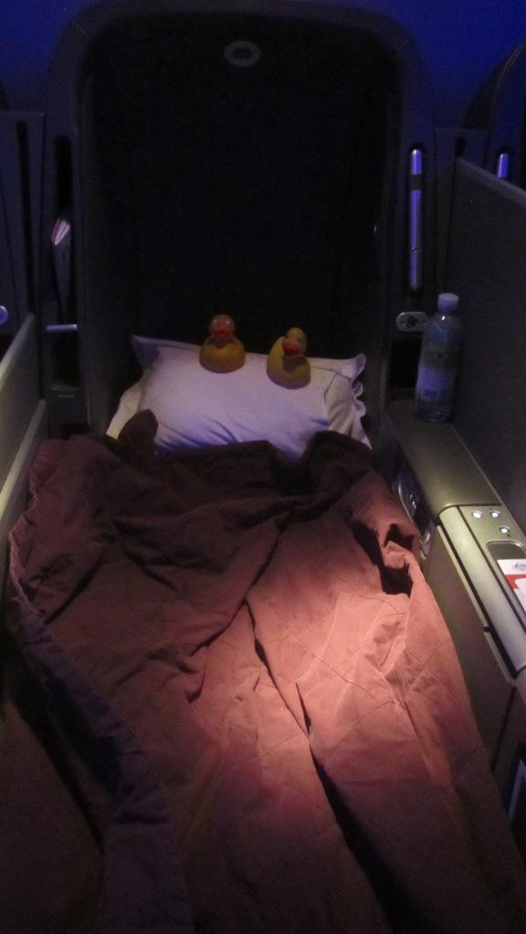 Easier to sleep on long flights.