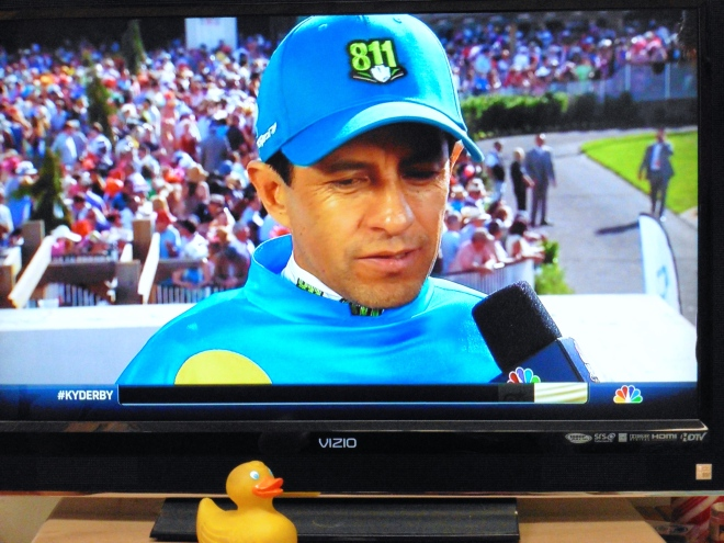 Victor Espinoza, a jockey, is from Mexico.