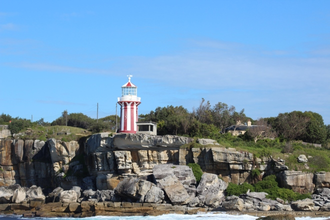 Lighthouse on cliffs