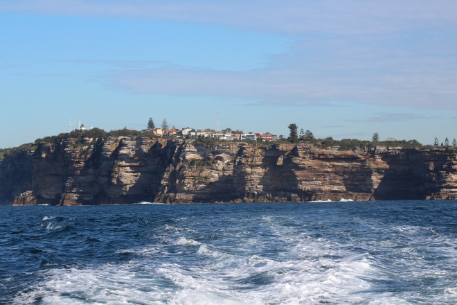 Cliffs of Tasman Sea heading to Manly