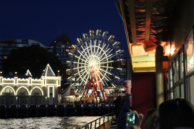 Ferris Wheel of Luna Park at night