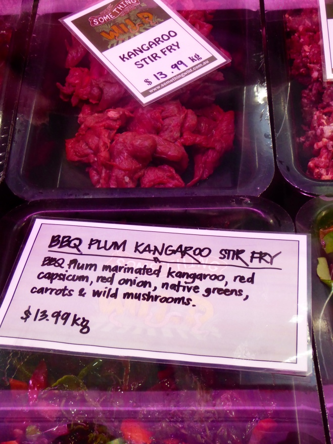 Kangaroo stir fry