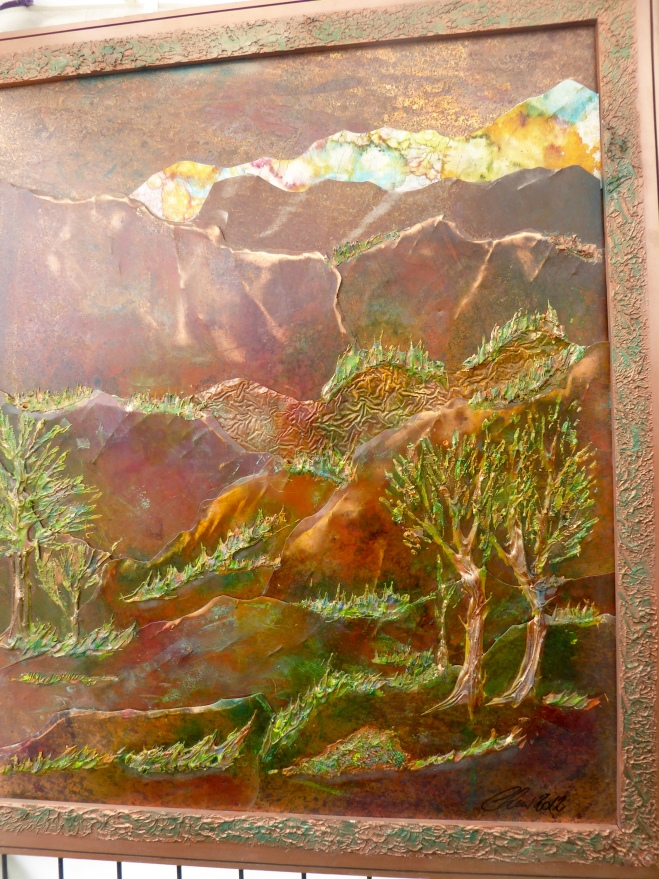Lars Metal Art Multiple layers of copper