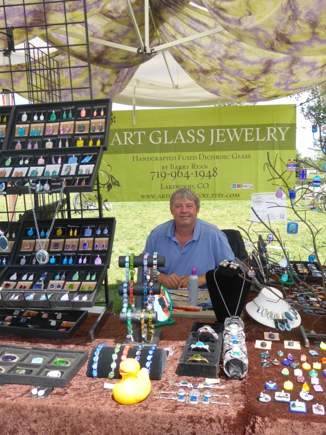 Barry makes Art Glass Jewelry
