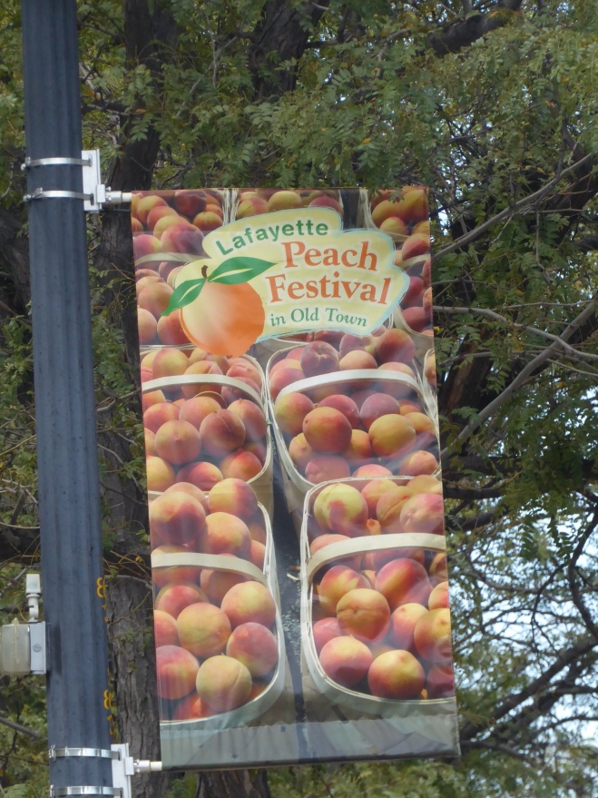 Welcome the the Peach Festival in Lafayette, Colorado