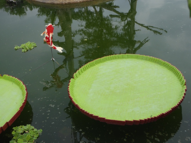 Lego Koi and Lily Pad