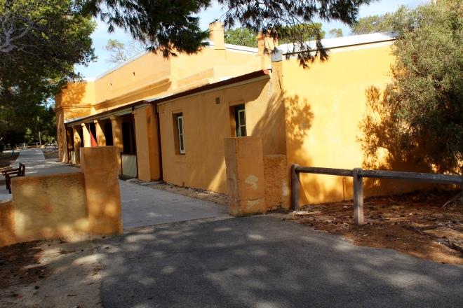 Former guard housing. Now shops