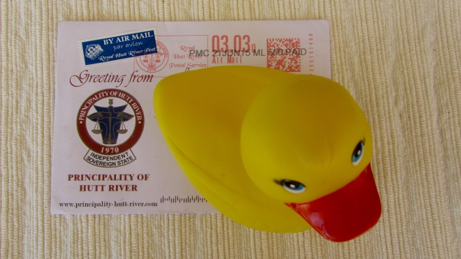 Eider on the front of envelope