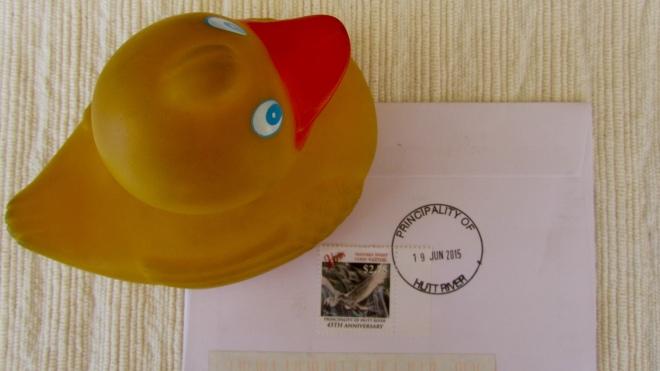 Zeb on the back of envelope