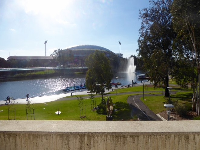 The Adelaide Oval, River Torrens and Elder Park