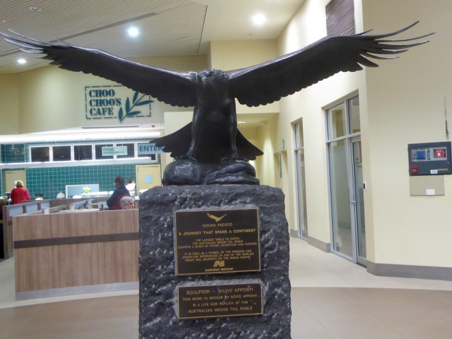 Statue in Adelaide train station Australian Wedge Tail Eagle