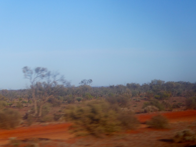 Red ground on the Nullarbor Plain
