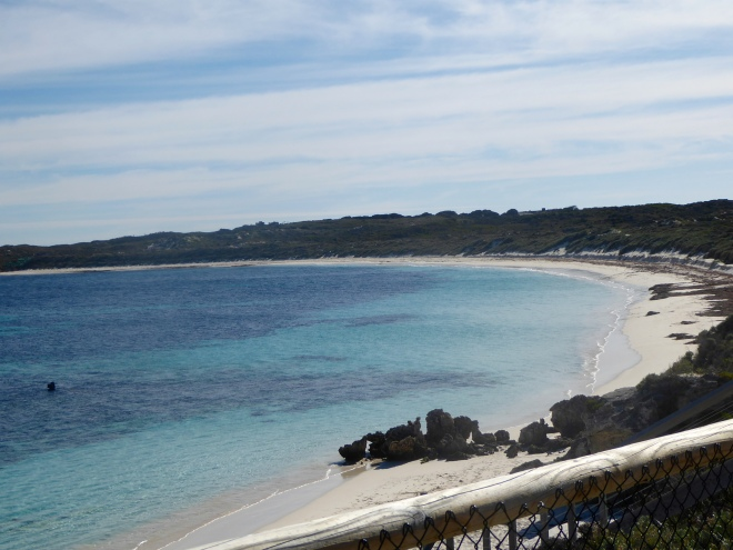 Beautiful white and beaches of Rottnest Island