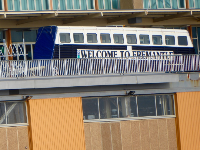 Passengers board ferry at Fremantle