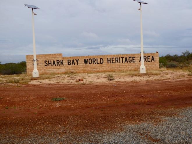 Entering Shark Bay World Heritage Site