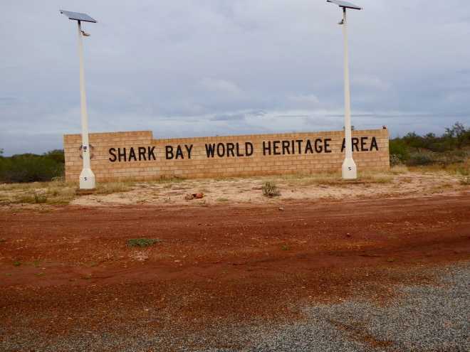 Entering Shark Bay World Heritage Site