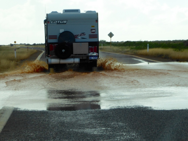 They drove through the water. So did we!