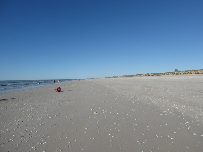 Our beach is wide and long