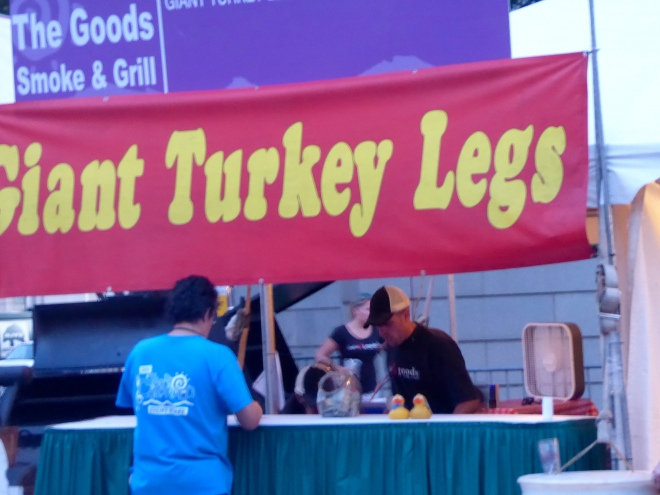 Ever popular turkey legs