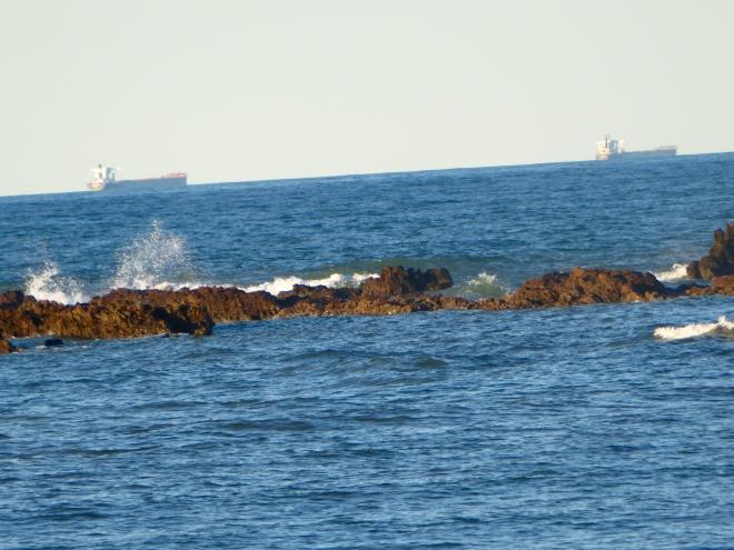 Ships lined up for Port Hedland