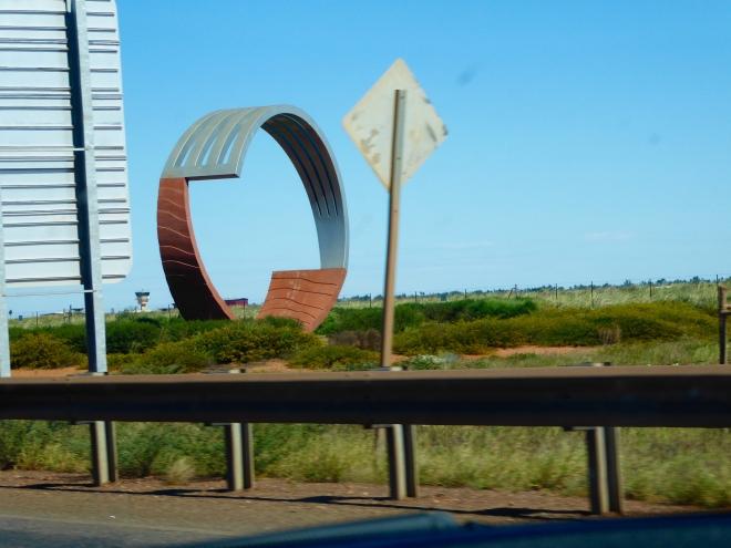 Unusual road side sculpture