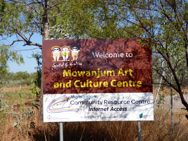 Here we are. Mowanjum Art and Culture Center