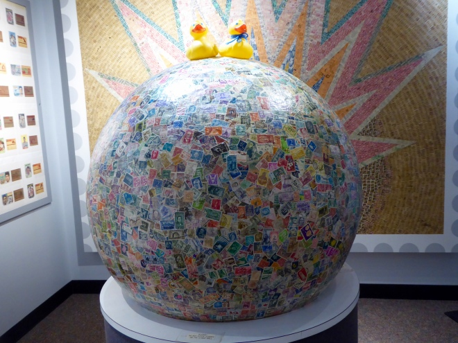 World's largest ball of stamps!