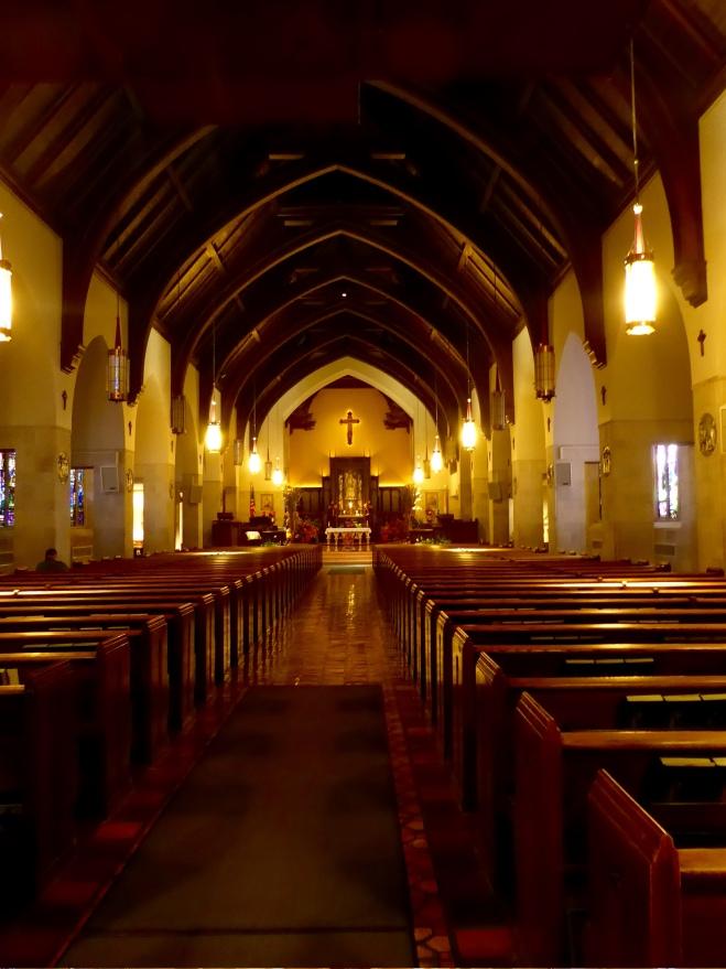 Inside Dowd Memorial Chapel