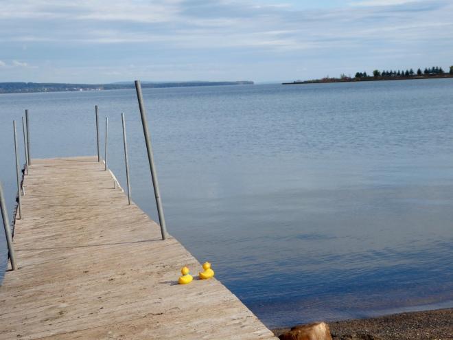 Pier looking toward Lake Superior