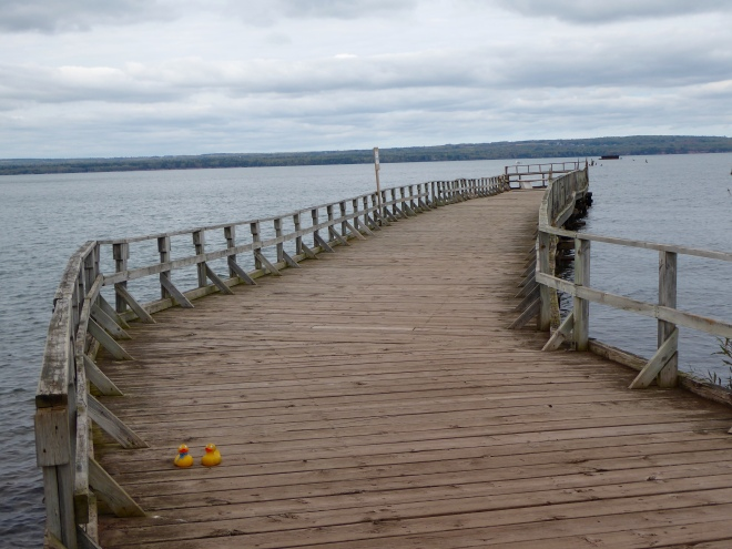 Pier over Chequamegon Bay