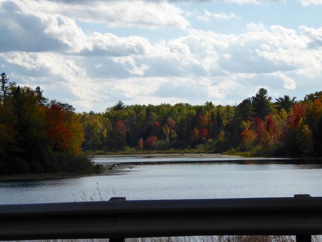 Leaves starting to change around this lake