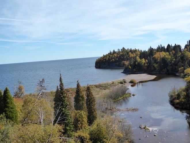 Beaver River flows into Lake Superior