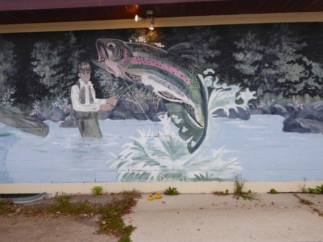 Fishing mural in Detroit Lakes, Minnesota