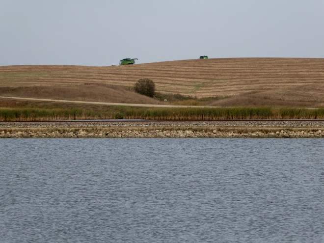 North Dakota farm and lake
