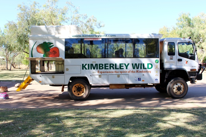 Our Kimberley Wild tour vehicle