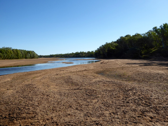 Much of Fitzroy River bed is dry