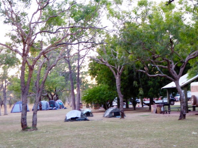 Camping area at Fitzroy River Lodge