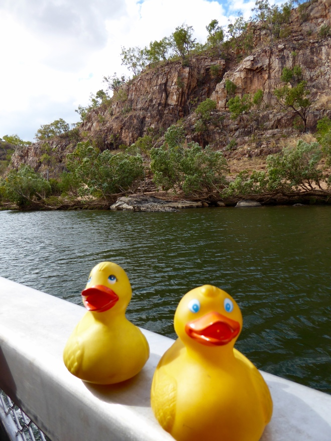 Enjoying boat ride in Katherine Gorge