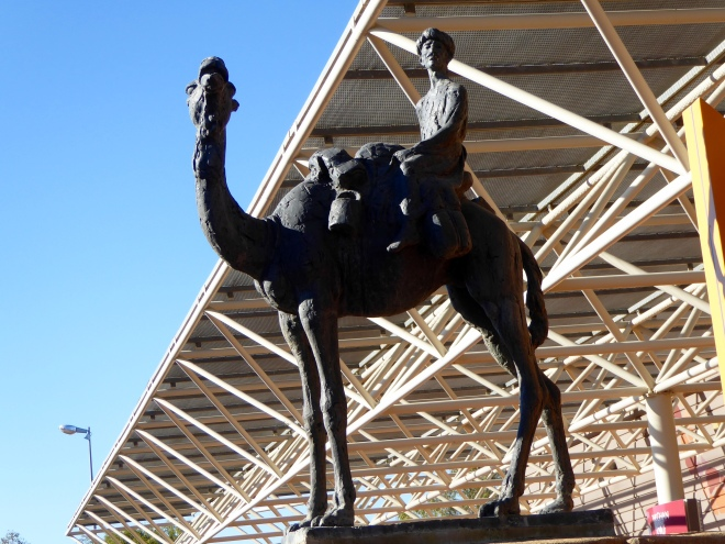 Camel statue at Alice Springs Ghan station