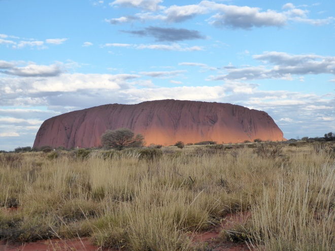 Uluru as sun begins to set