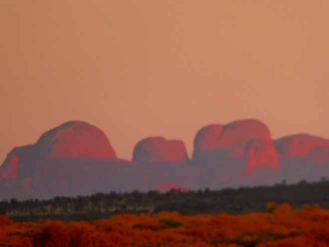Sunrise over Kata Tjuta