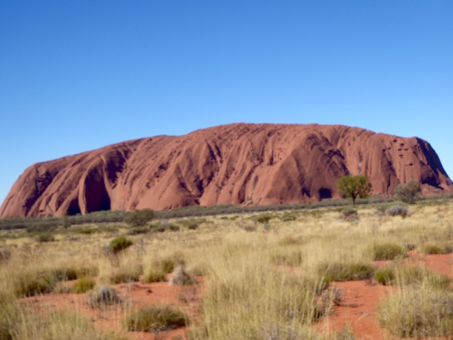 Uluru. Best appreciated from a distance to see whole thing