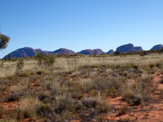Kata Tjuta is cluster of several rocks
