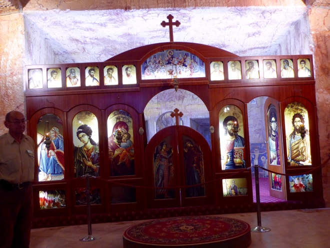 Altar of underground Serbian Orthodox Church
