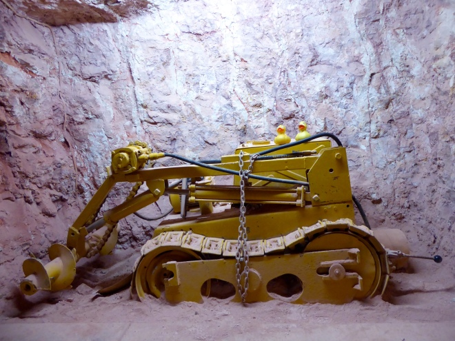 We are on old mining equipment