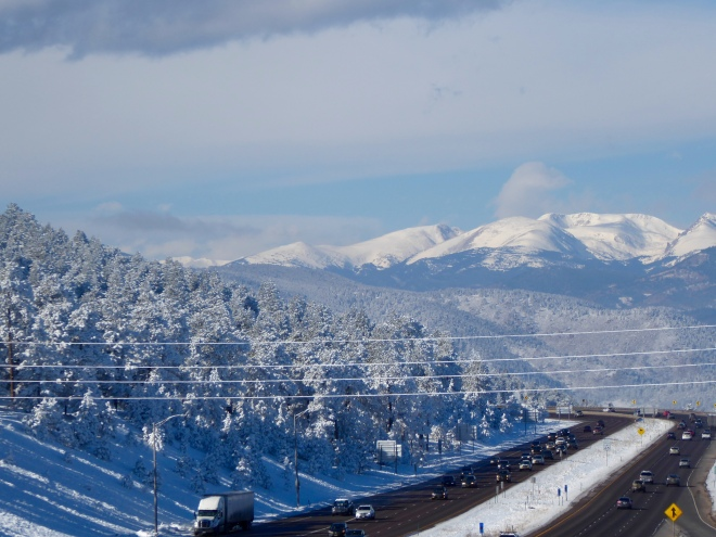 View of Continental Divide from I-70