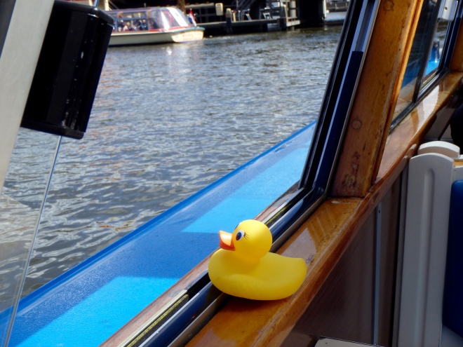 Ms. Ducky touring canal