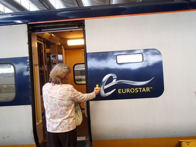 Eurostar Train heading for Brussels